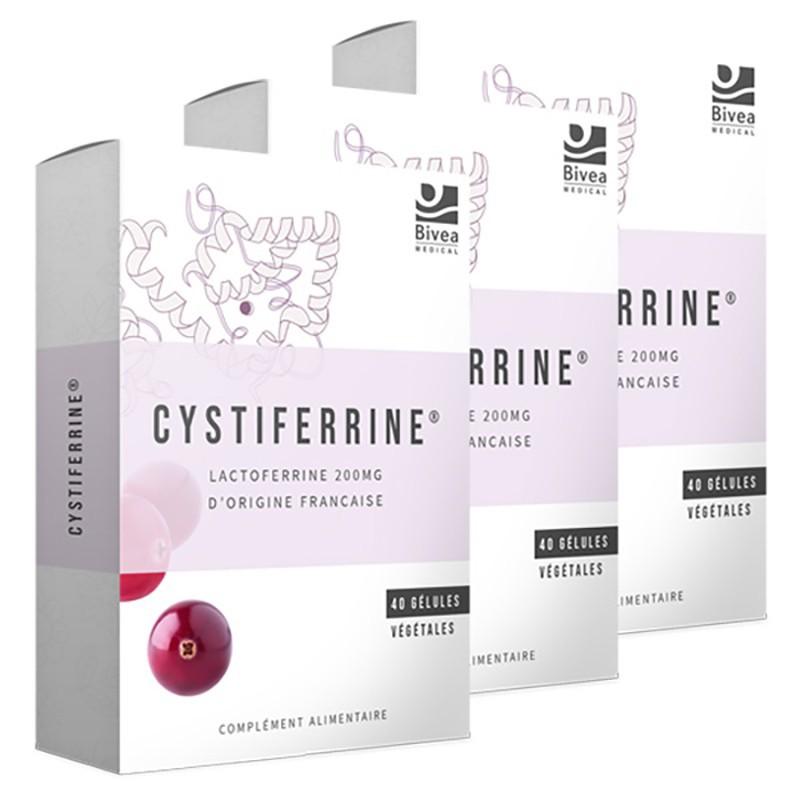 Lot de 3 compléments alimentaire Cystiferrine pour contribuer au confort féminin
