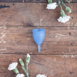 Coupe vaginale bleue Lunacopine taille 1